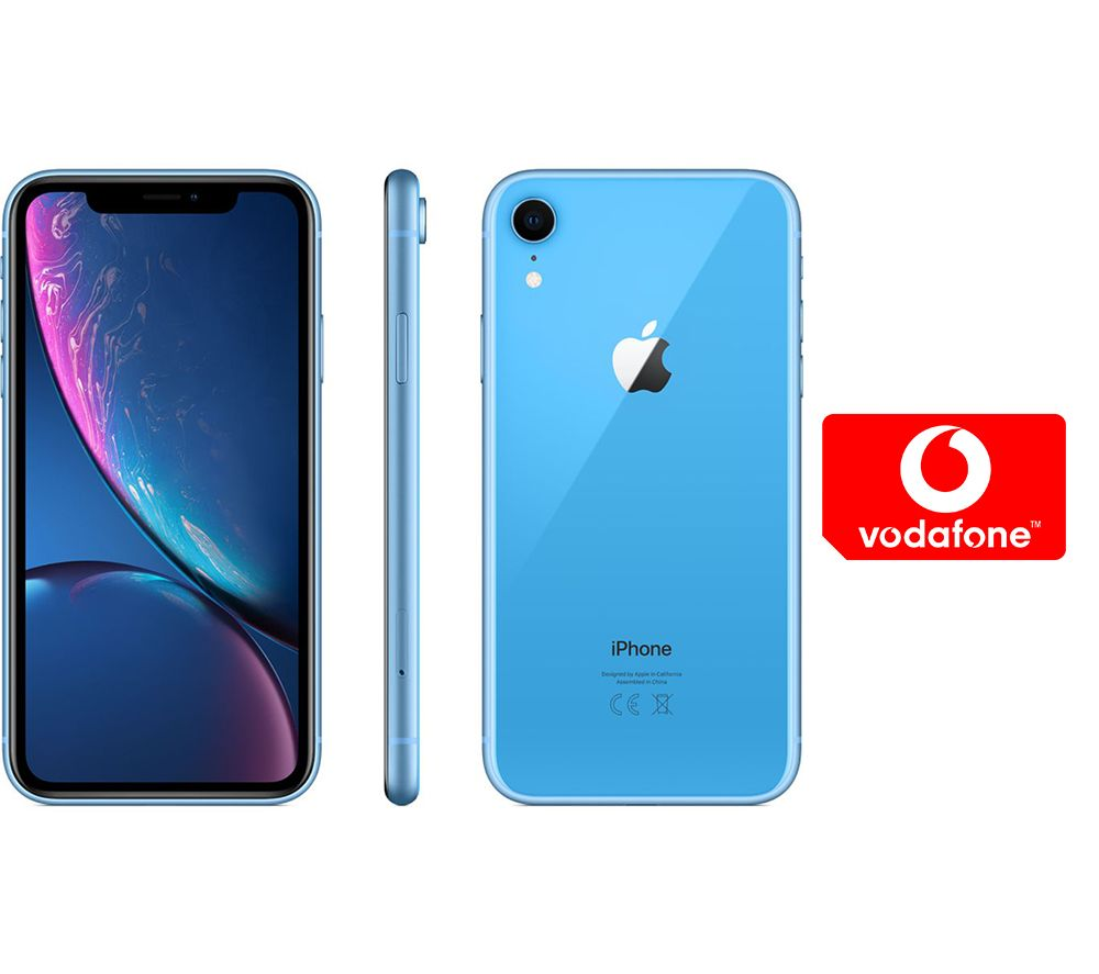 APPLE iPhone XR & Pay As You Go Micro SIM Card Bundle - 64 GB, Blue, Blue cheapest retail price