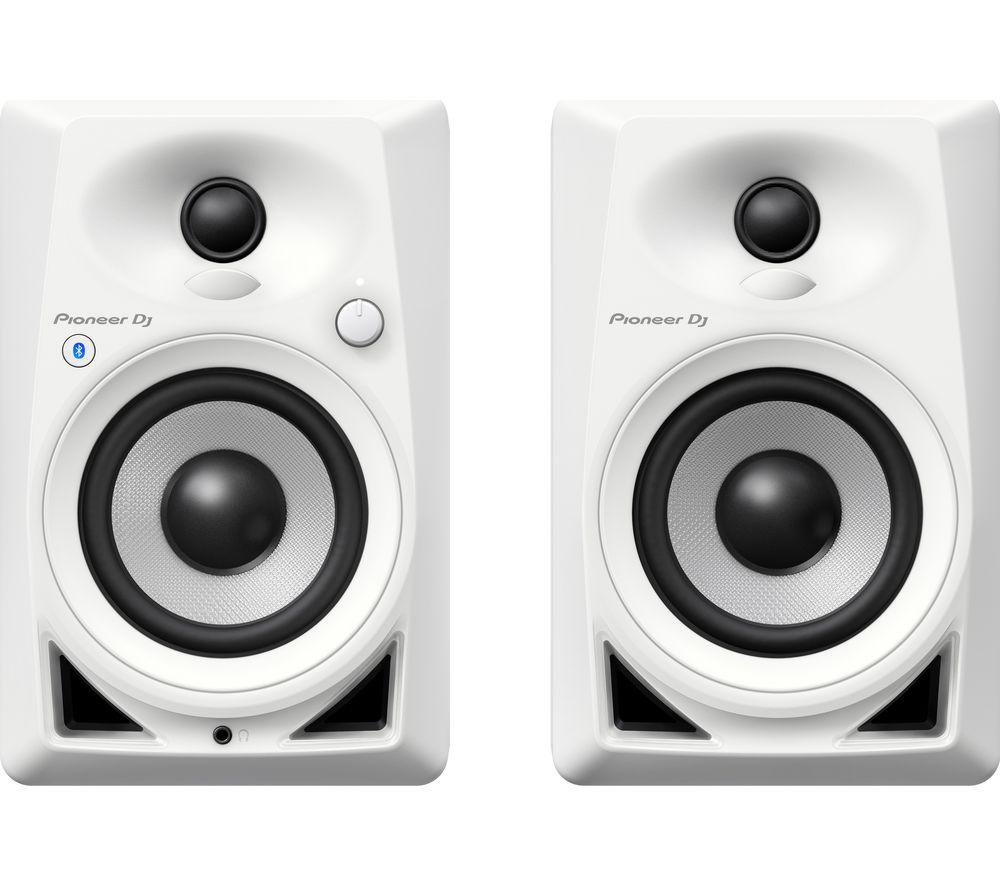 PIONEER DJ DM-40BT-W 2.0 Bluetooth DJ Monitor Speakers - White