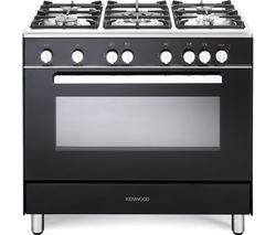 KENWOOD CK307G 90 cm Gas Range Cooker – Black & Chrome