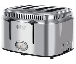 RUSSELL HOBBS Retro 21695 4-Slice Toaster - Silver