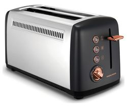 Rose Gold Collection 245036 4-Slice Toaster - Black & Rose Gold