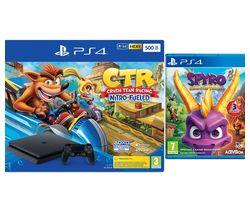 SONY PlayStation 4 with Crash Team Racing & Spyro Trilogy Reignited Bundle - 500 GB