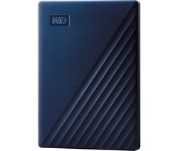 WD My Passport for Mac Portable Hard Drive - 2 TB, Midnight Blue