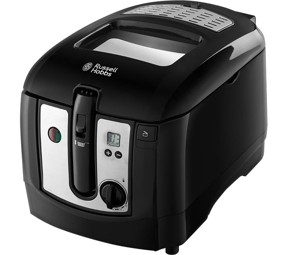 24580 Deep Fryer - Black & Silver, Black
