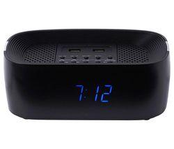 GROOV-E Sound Curve GV-SP407-BK FM Bluetooth Clock Radio - Black