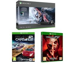 MICROSOFT Xbox One X with Star Wars Jedi: Fallen Order Deluxe Edition, Tekken 7 & Project Cars 2 Bundle