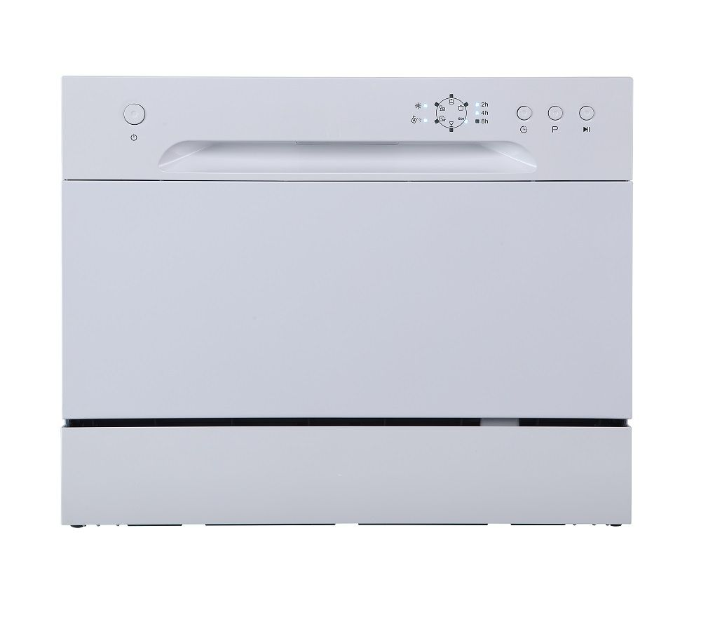 ESSENTIALS CUE CDWTT20 Table Top Dishwasher - White