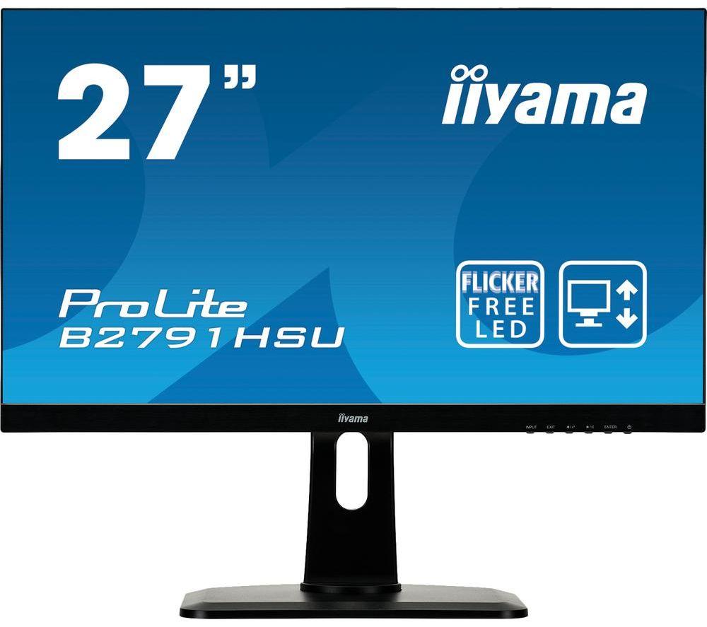 "IIYAMA ProLite B2791HSU-B1 Full HD 27"" LCD Monitor - Black"