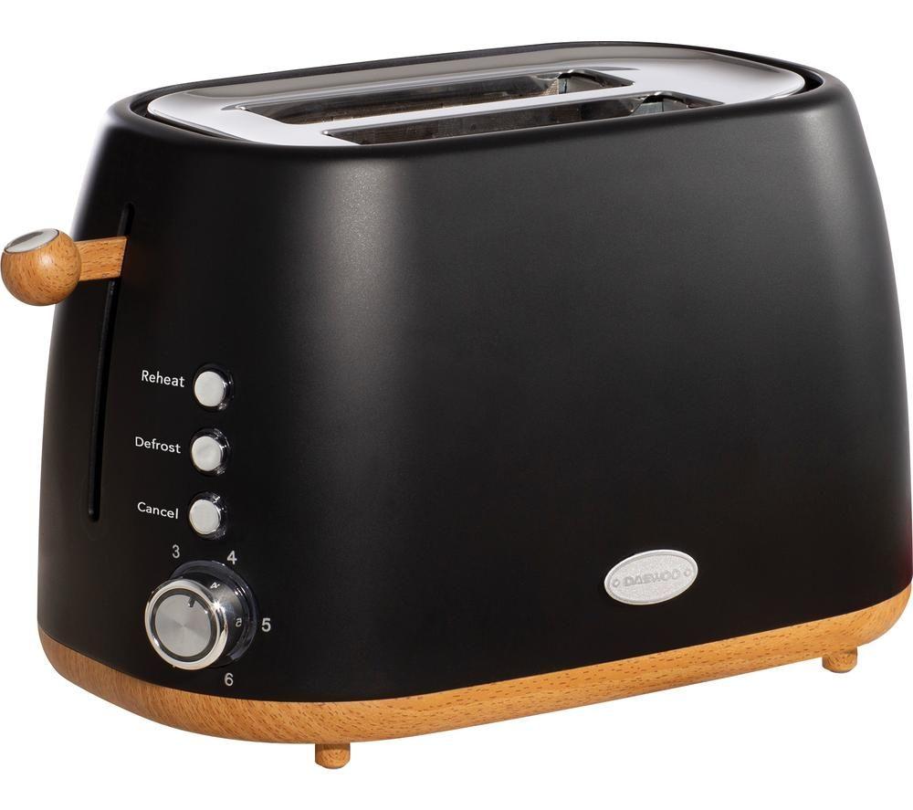 DAEWOO Skandik SDA1697 2-Slice Toaster - Black