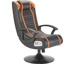 Veleno JR 2.1 Rocker Gaming Chair - Black & Orange
