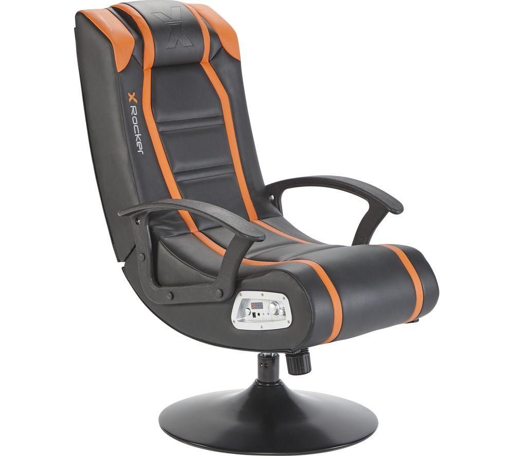 X ROCKER Veleno JR 2.1 Rocker Gaming Chair - Black & Orange