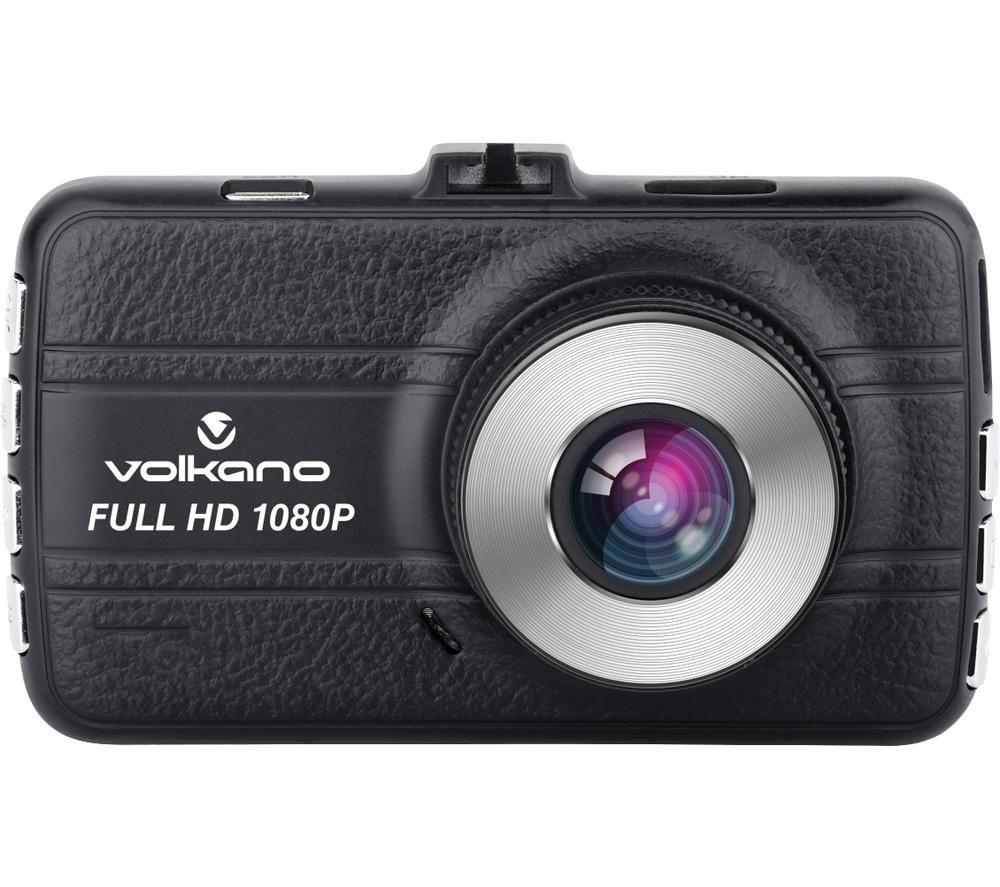 VOLKANO Freeway Series VK-10008-BK Full HD Dash Cam - Silver & Black