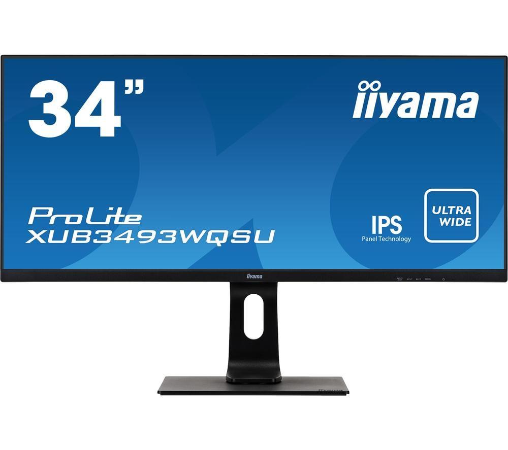 "Image of IIYAMA ProLite XUB3493WQSU-B1 Wide Quad HD 34"" IPS LCD Monitor - Black, Black"