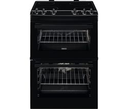 ZANUSSI ZCV66050BA 60 cm Electric Ceramic Cooker - Black Best Price, Cheapest Prices