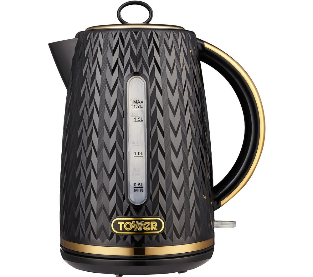 TOWER Empire Collection T10052BLK Jug Kettle -  Black