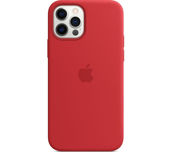 Image of APPLE iPhone 12 & 12 Pro Silicone Case with MagSafe - (PRODUCT)RED