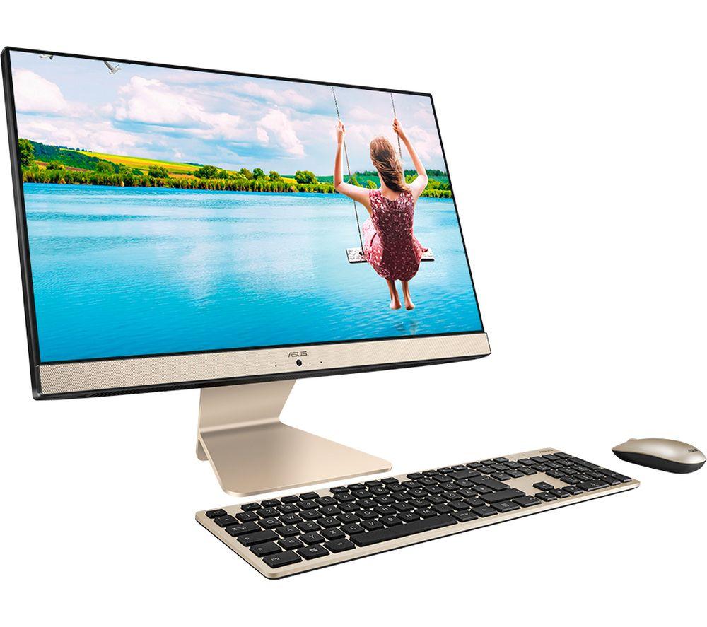 "ASUS Vivo AiO V222FAK 21.5"" All-in-One PC - Intel® Core™ i3, 1 TB HDD & 128 GB SSD, Black & Gold"