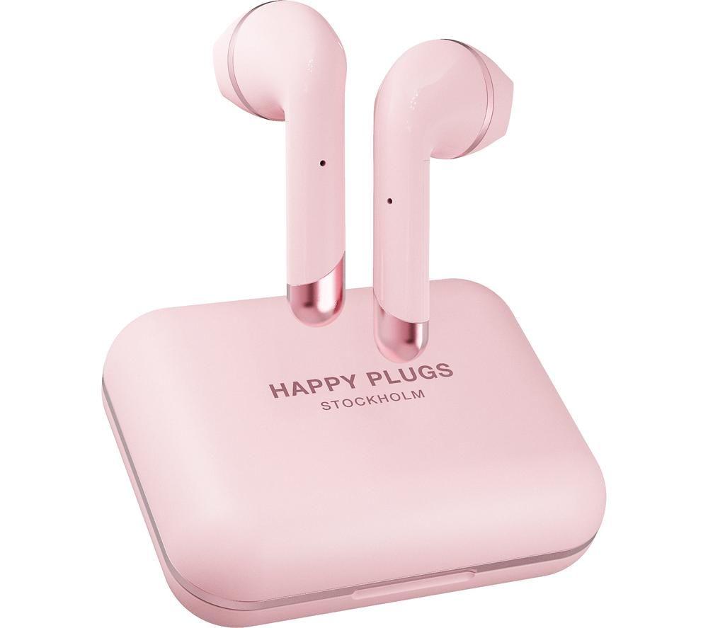 HAPPY PLUGS Air 1 Plus Wireless Bluetooth Earphones - Pink Gold, Pink
