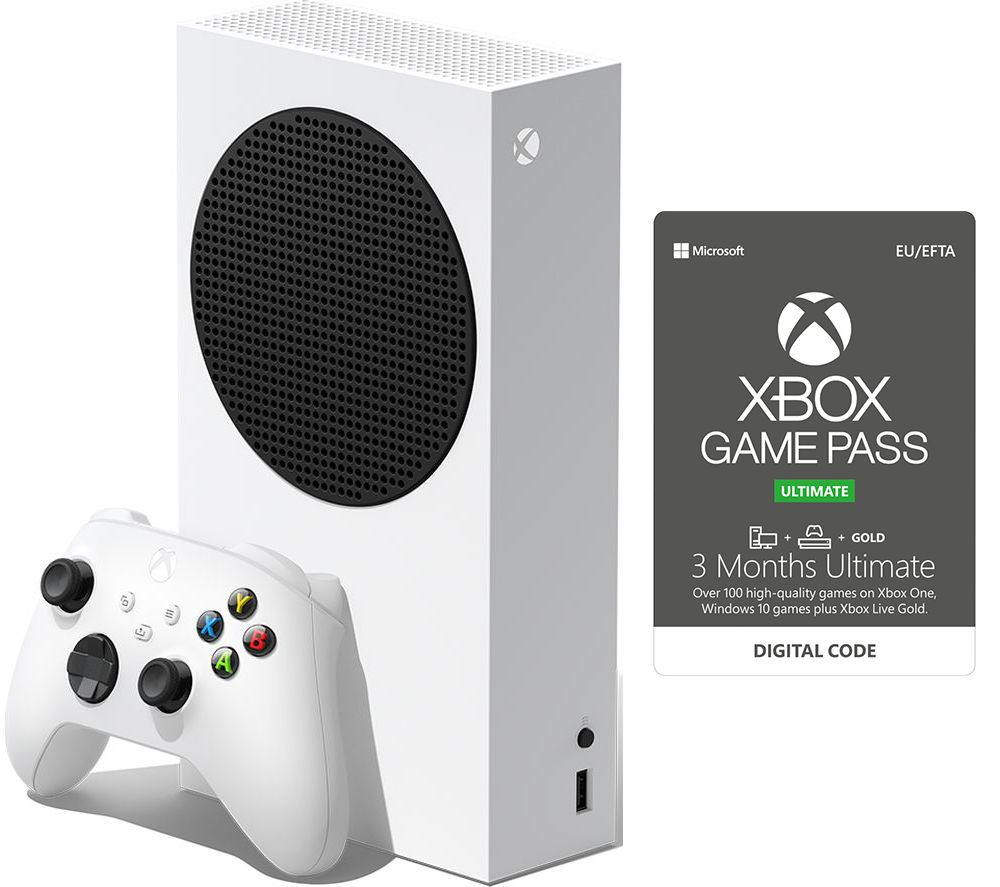 MICROSOFT Xbox Series S & 3 Month Game Pass Ultimate Bundle - 512 GB SSD