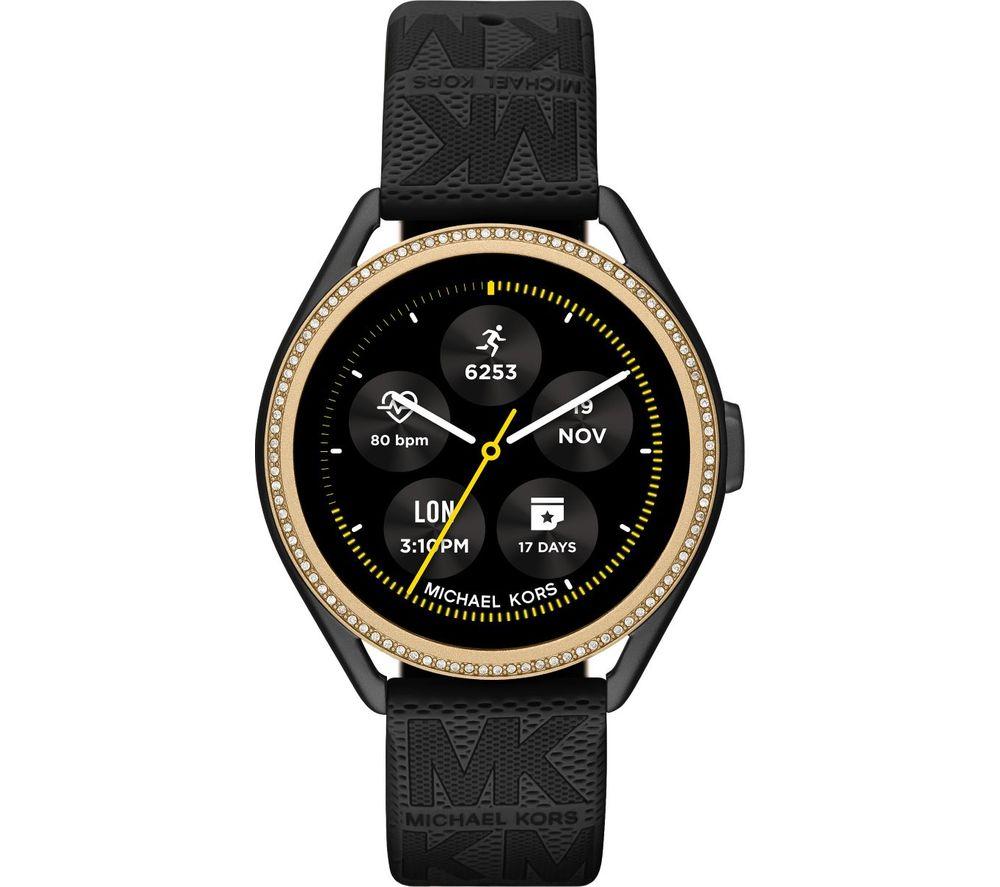 MICHAEL KORS MKGO Gen 5E MKT5118 Smartwatch - Black & Gold, Silicone Strap