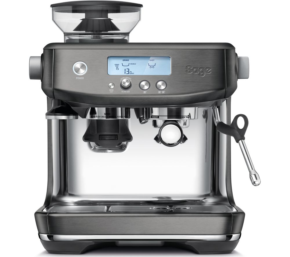 SAGE The Barista Pro SES878BST Bean to Cup Coffee Machine - Black Stainless Steel