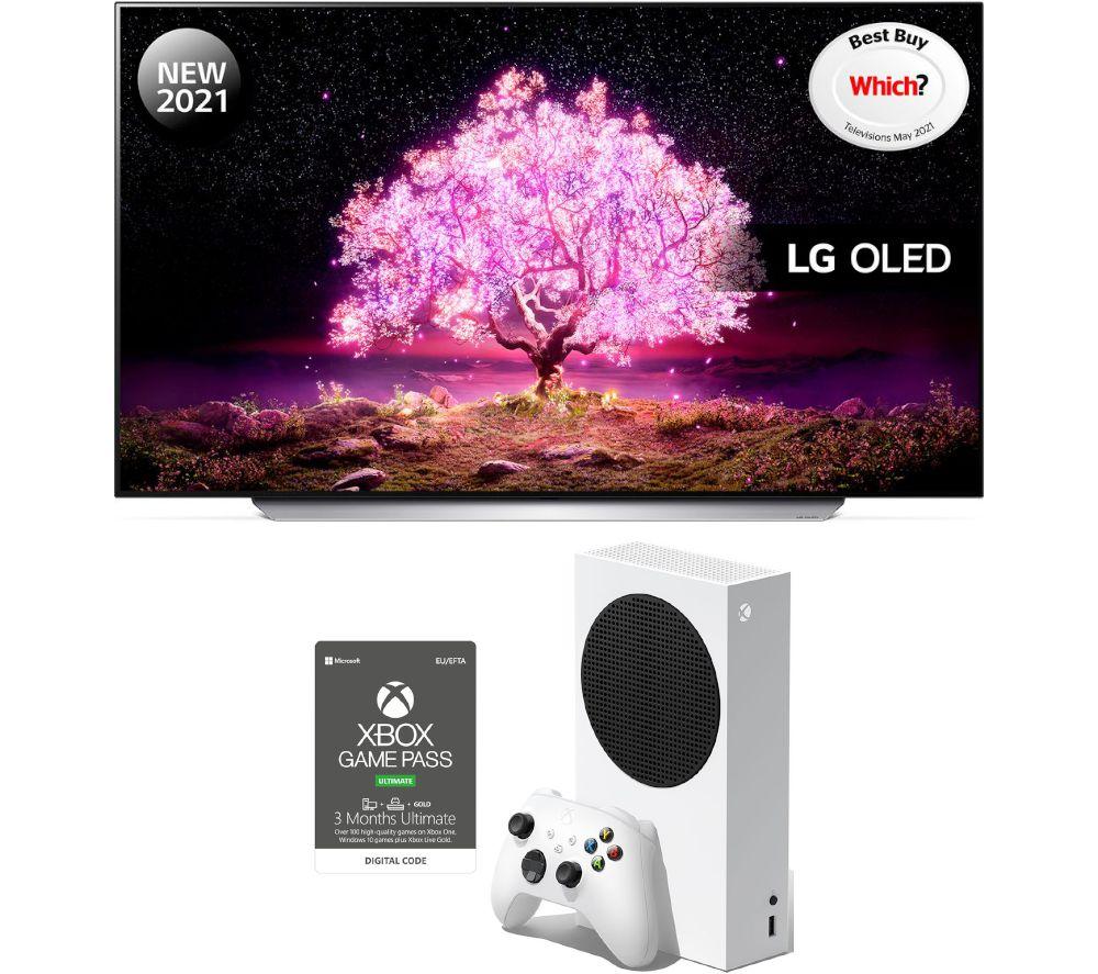 55 LG OLED55C14LB  Smart 4K Ultra HD OLED TV, Xbox Series S & Game Pass Ultimate Bundle