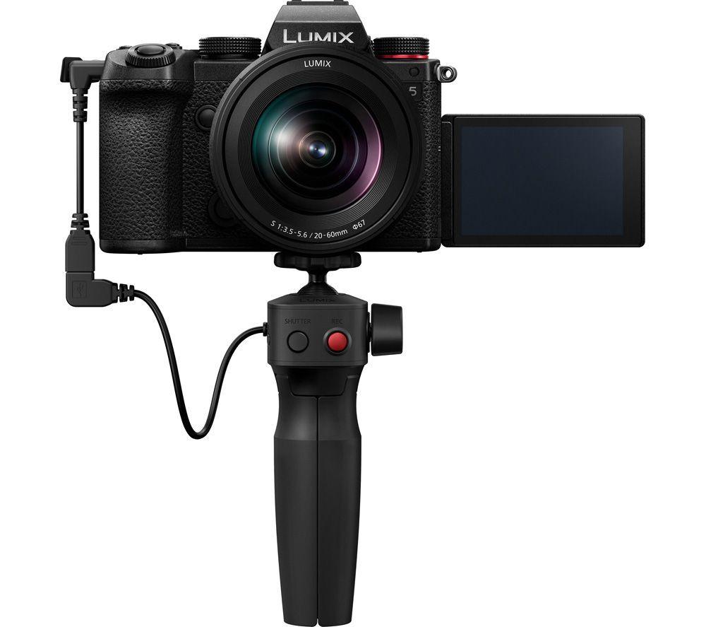 PANASONIC Lumix DC-S5KE-K Mirrorless Camera & Vlogging Tripod Grip Bundle