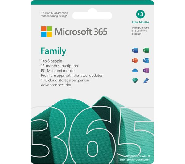 Image of MICROSOFT 365 Family (1 year for 1 user 3 Months Extra Time) & LiveSafe Premium (1 year for unlimited devices) Bundle