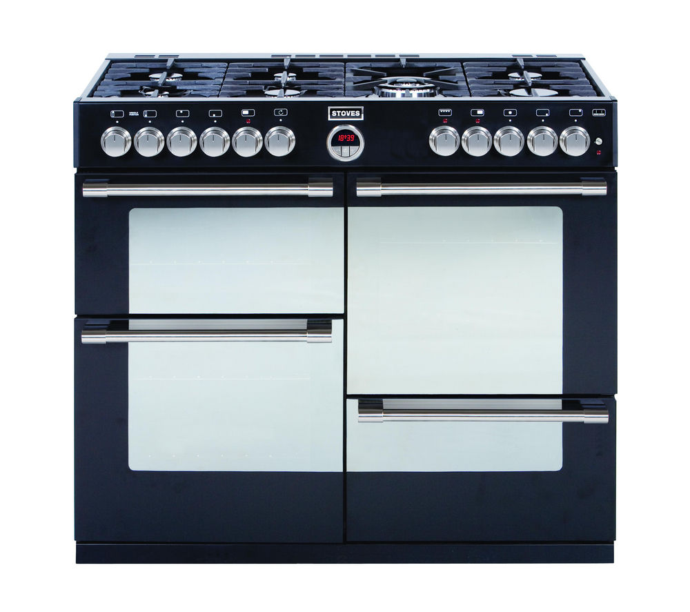 STOVES Sterling R1000DFT Dual Fuel Range Cooker - Black
