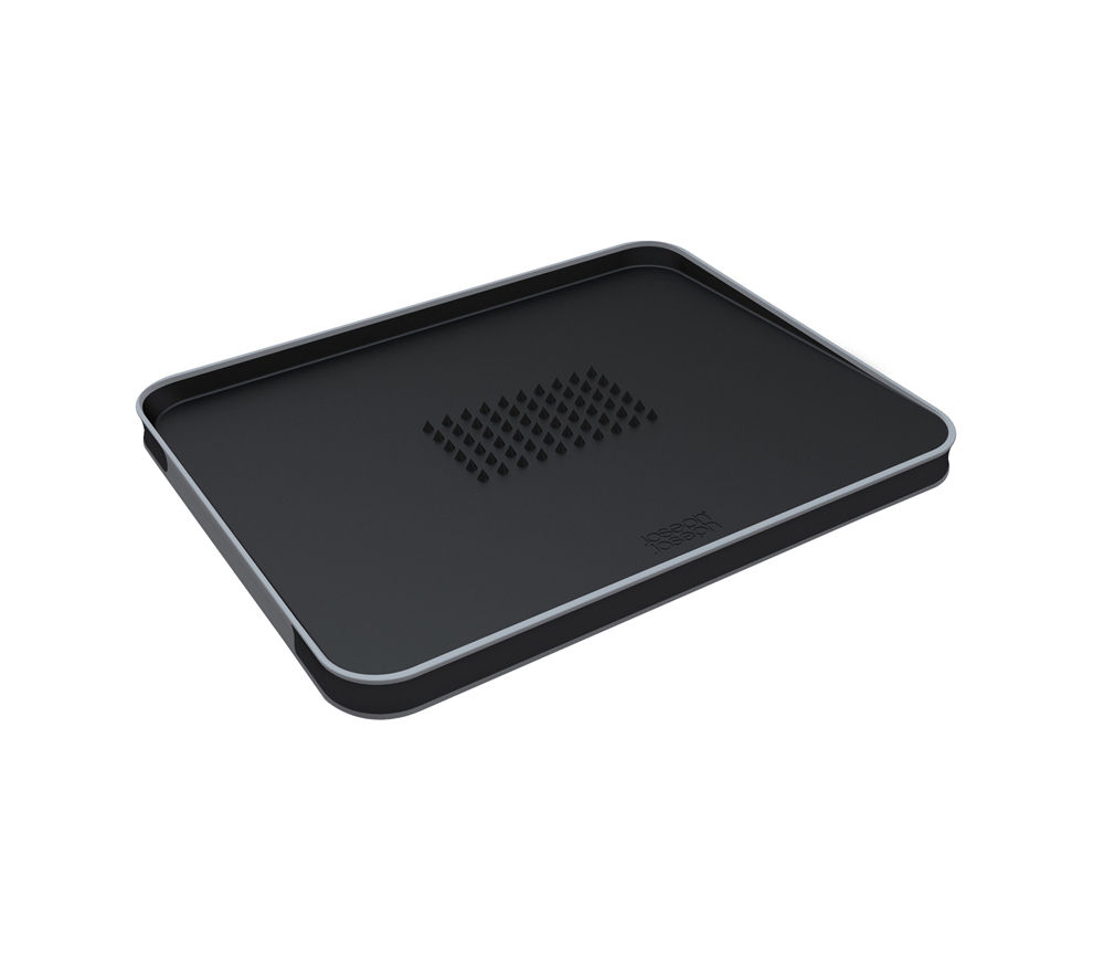 JOSEPH JOSEPH 60002 Cut & Carve Plus Chopping Board - Black
