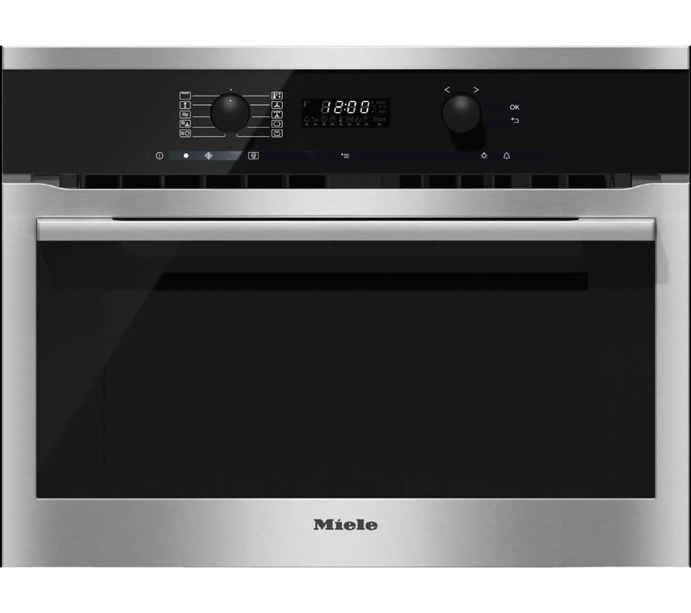 buy miele h6100bm electric oven microwave clean steel free delivery currys. Black Bedroom Furniture Sets. Home Design Ideas
