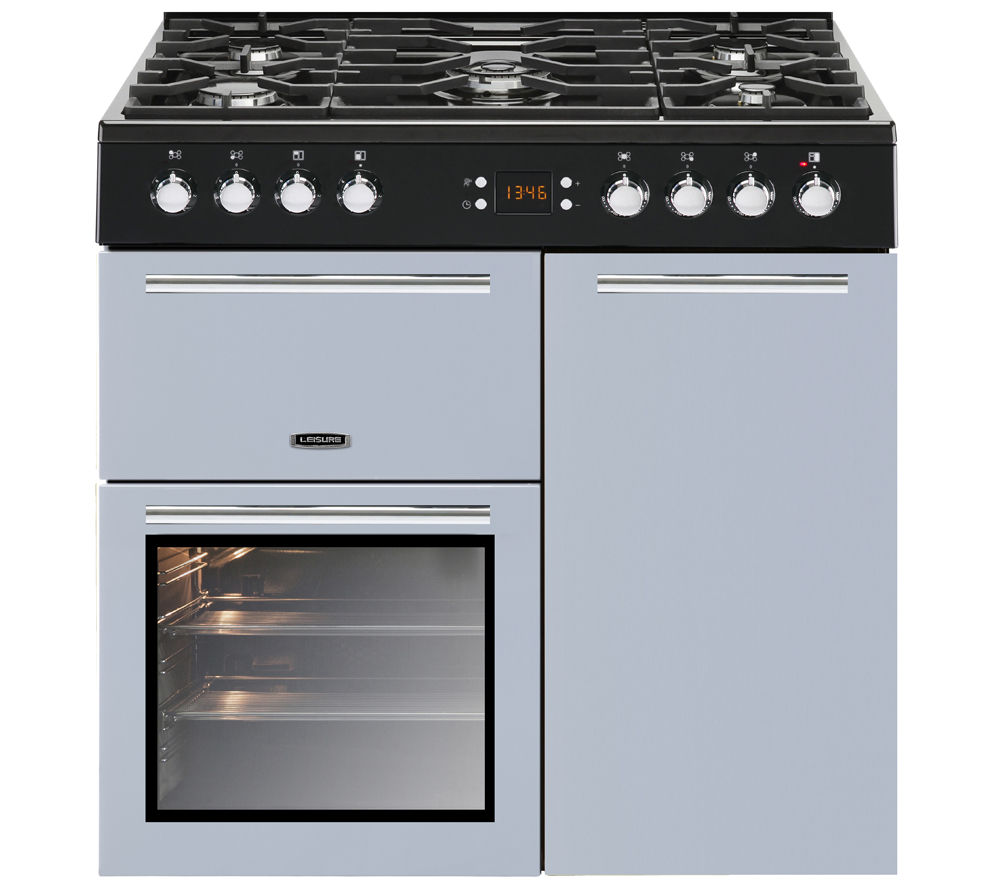 LEISURE AL90F230B Dual Fuel Range Cooker - Blue, Blue
