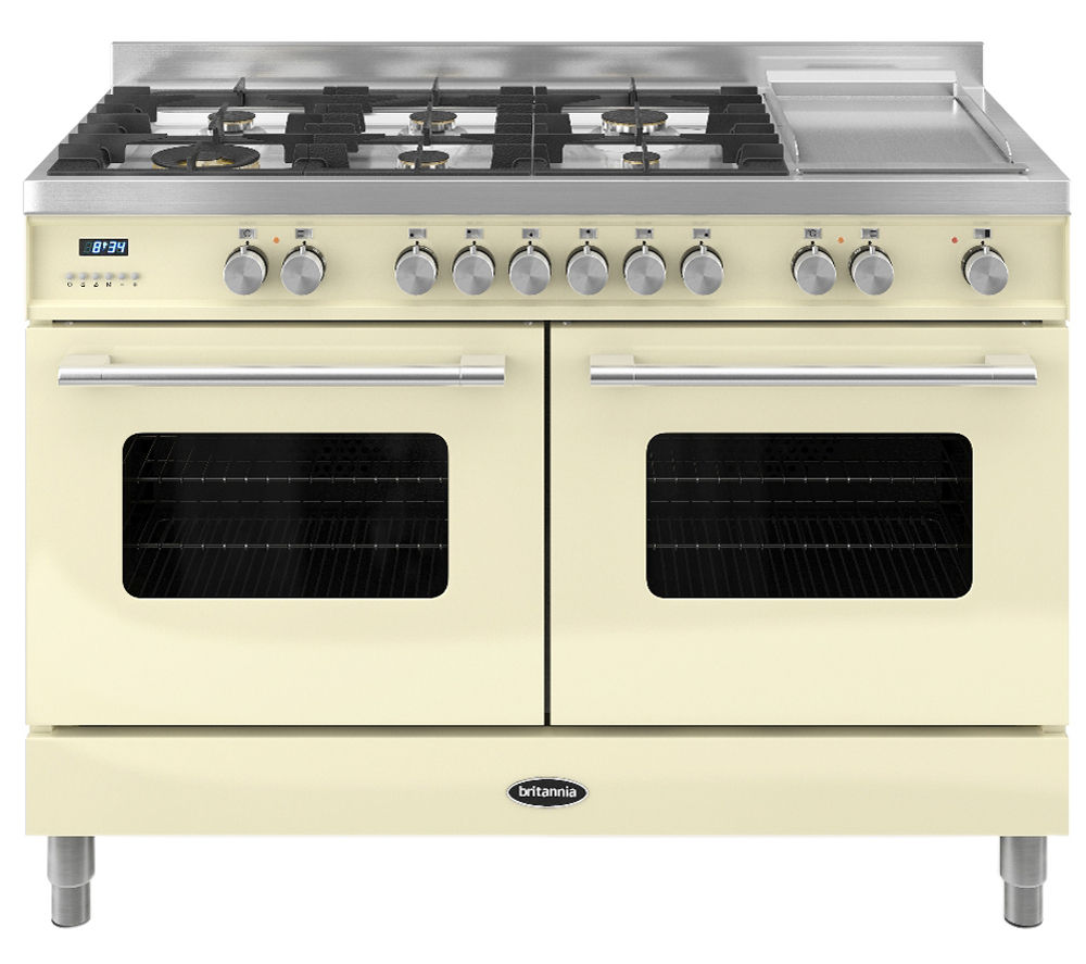 BRITANNIA Delphi 120 RC12TGDECR Dual Fuel Range Cooker - Gloss Cream