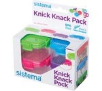 SISTEMA 21127 Knick Knack Square 62 ml Boxes - Pack of 4