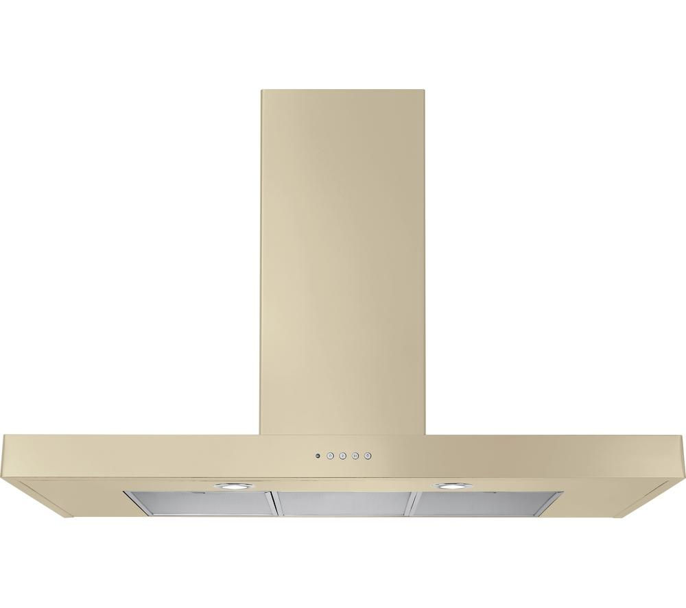 RANGEMASTER Flat 90 Chimney Cooker Hood - Cream