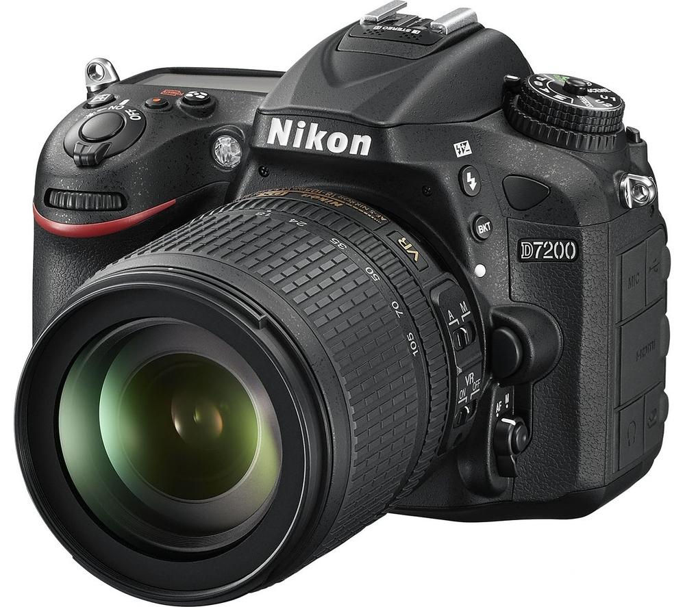 NIKON D7200 Digital SLR Camera with 18-105 mm f/3.5-5.6 Zoom Lens - Black, Black