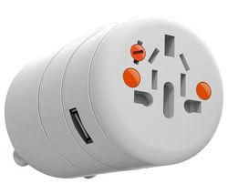 PHILEX Twist Plus PA-OAK-2WH Universal USB Travel Charger