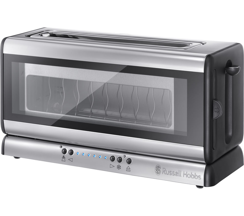 RUSSELL HOBBS 21310 2-Slice Toaster - Black Glass