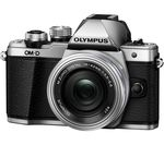 OLYMPUS E-M10 Mark II Mirrorless Camera with 14-42 mm f/3.5-5.6 Lens - Silver