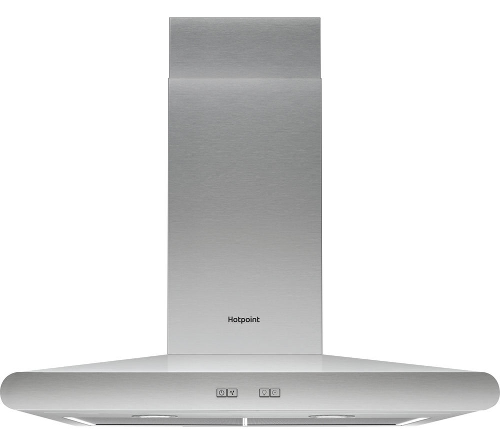 HOTPOINT PHC6.7FLBIX Chimney Cooker Hood - Stainless Steel