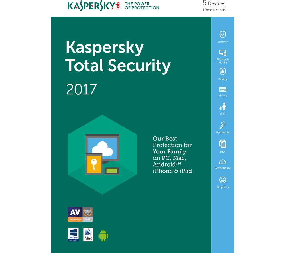 KASPERSKY Total Security 2017 (5 Devices for 1 Year)