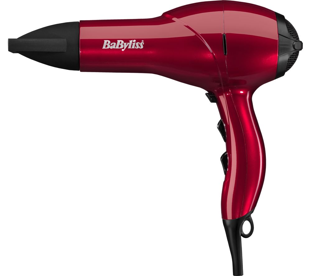 BABYLISS Salon AC Hair Dryer - Red, Red
