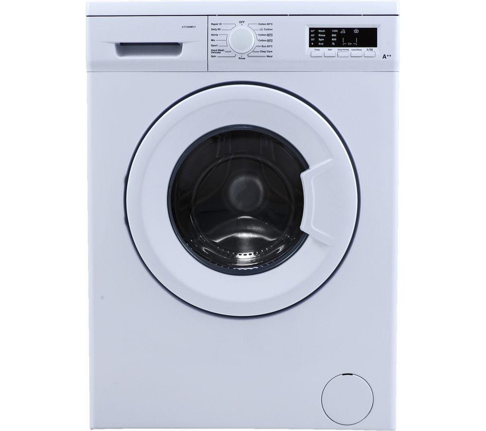 ESSENTIALS C712WM17 7 kg 1200 Spin Washing Machine – White, White