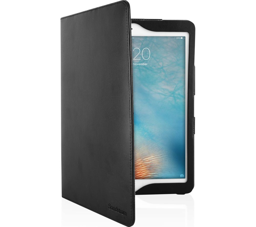 "SANDSTROM SIP105L17 10.5"" iPad Pro Leather Folio Case - Black"