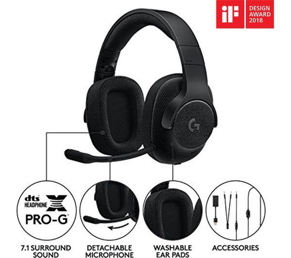 Buy Logitech G433 7 1 Gaming Headset Black Free