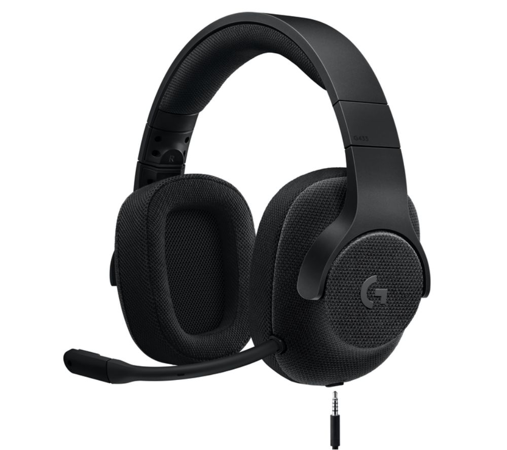 Buy LOGITECH G433 7 1 Gaming Headset - Black | Free Delivery | Currys