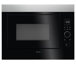 AEG MBE2658D-M Built-in Microwave with Grill - Stainless Steel & Black