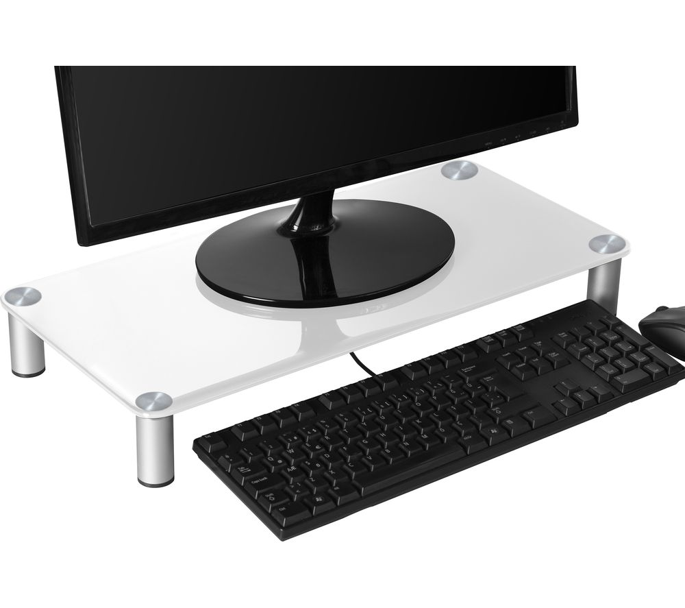Image of CONNECTED ESSENITALS Monitor Stand - White, White