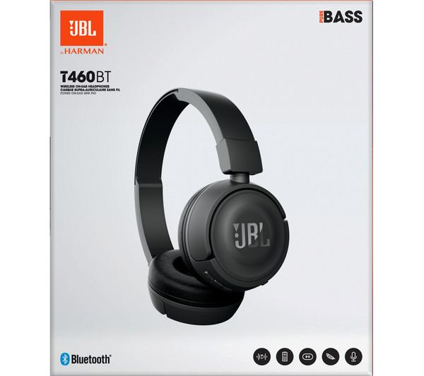 8fb2ff55254 Buy JBL T460BT Wireless Bluetooth Headphones - Black | Free Delivery ...