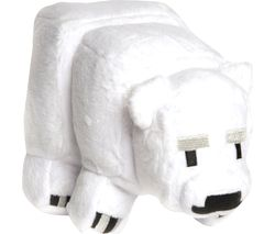 MINECRAFT Baby Polar Bear Plush Toy - Small, White